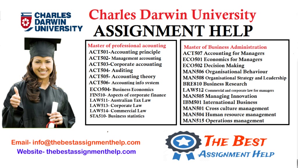 charles darwin university melborne assignmnet