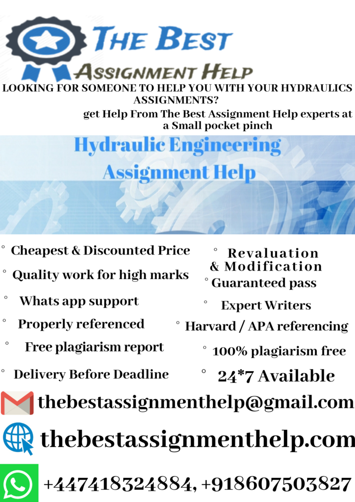 hydraulics assignment
