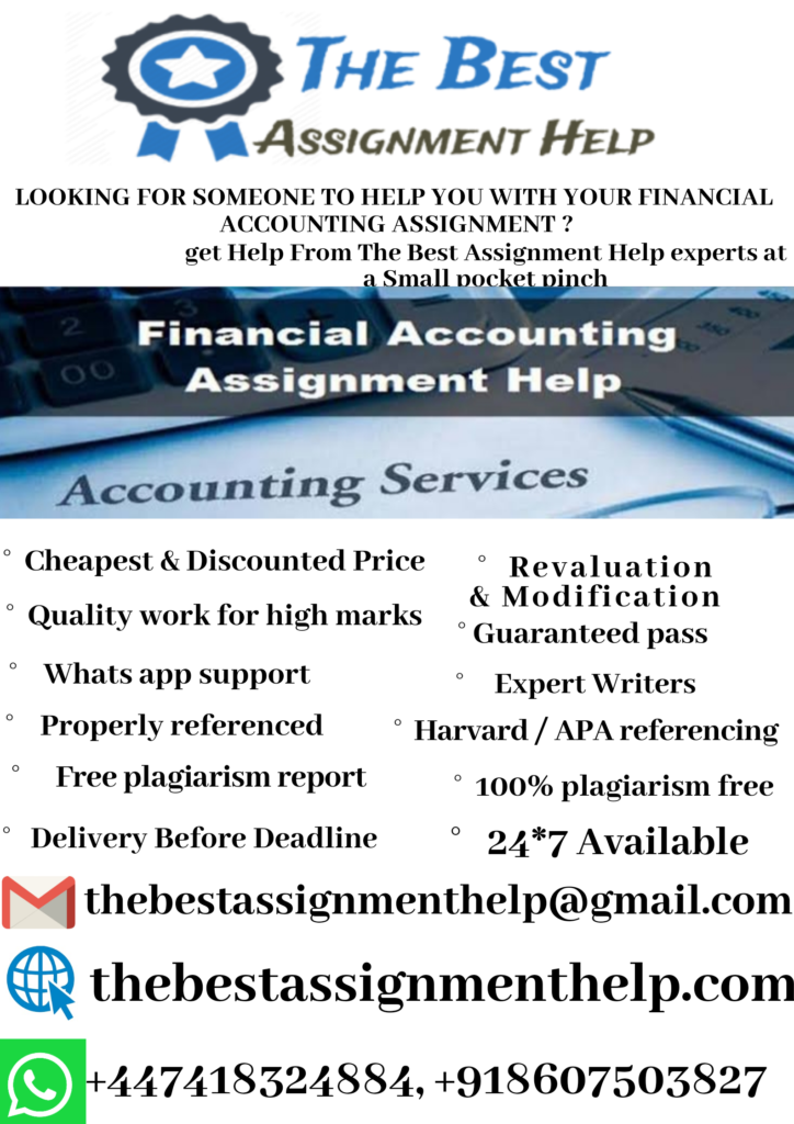 BUACC5934 Financial Accounting Assignment Help 1