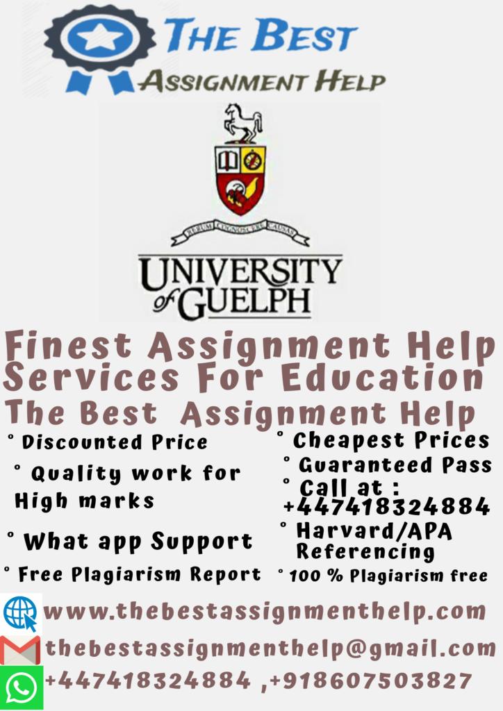 University Of Guelph Assignment Help 1