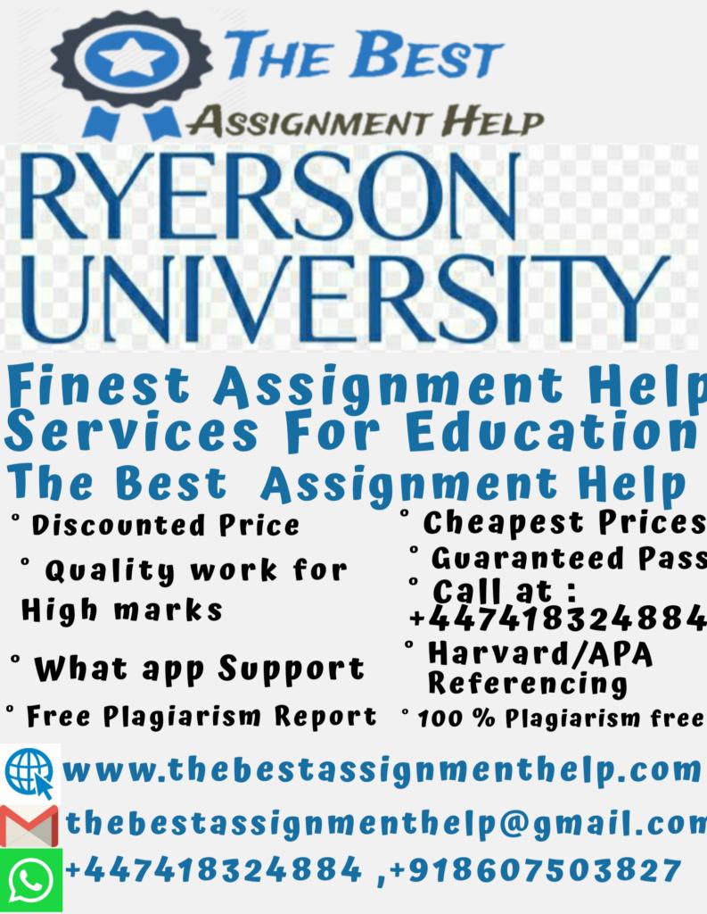 Ryerson University Assignment Help 1